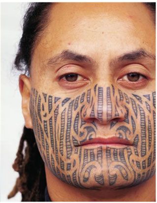 "In the Maori language, these tattoos are known as ""ta moko."